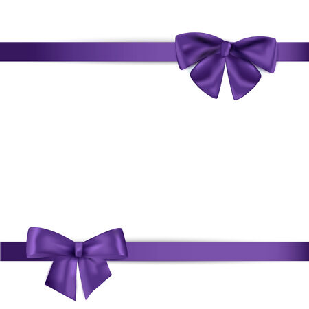 christmas bow: ribbon with bow on a white background. Vector illustration.
