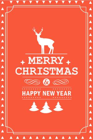 Kerstfeest uitnodiging retro typografie en vormgeving decoratie. Kerstvakantie flyer of affiche ontwerp. Vector illustratie
