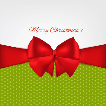 ribbon with bow on  background. Vector illustration. Christmas background. Illustration