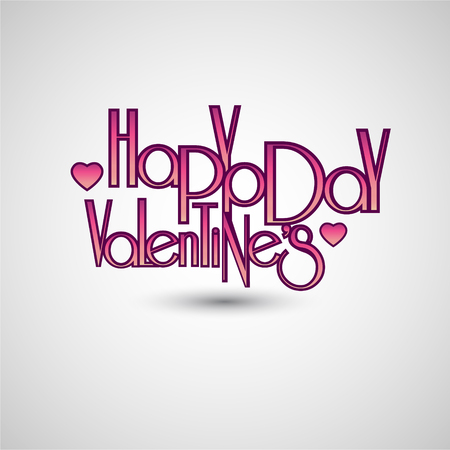 Happy valentines day. Lettering.
