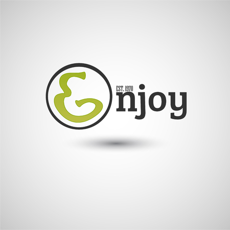enjoy: Enjoy typography, graphics. Lettering. Illustration