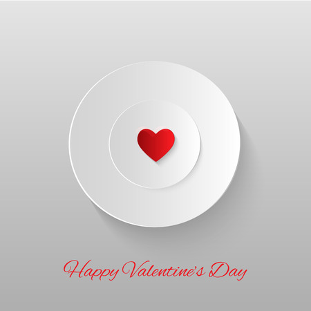white plate: Heart on a white plate.