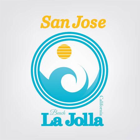 San Jose typography Illustration