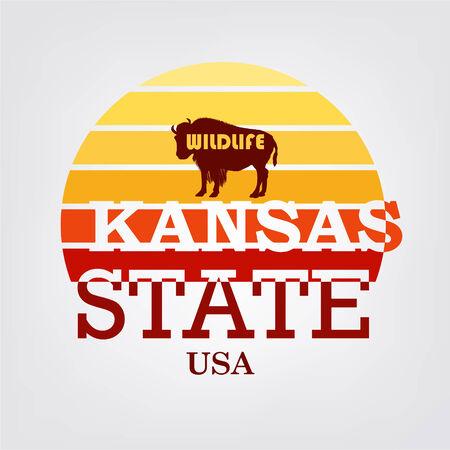 Kansas state typografie