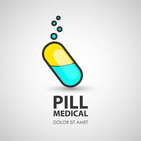 Medical Tablets. Business creative icon.