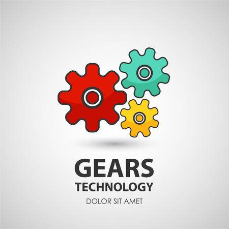 Gears pictogram. Zakelijk creatieve icoon.