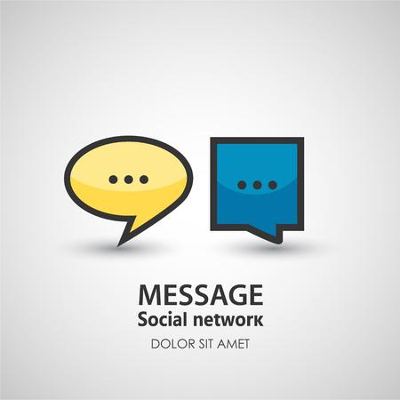 Spraak bubbel. Zakelijk creatieve icoon. Stock Illustratie