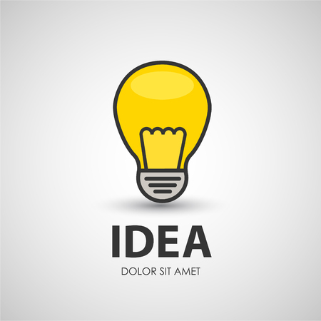 electric bulb: Electric bulb lighting device. Business creative icon.