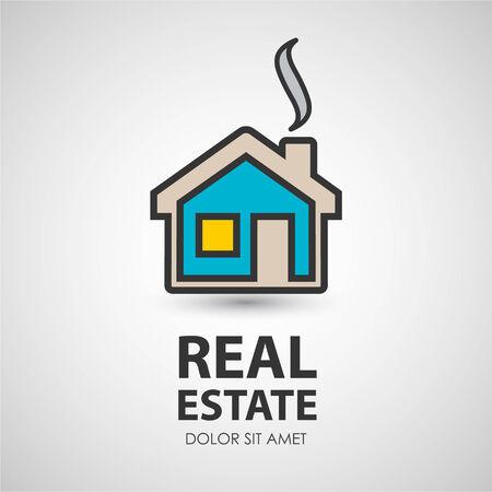 Huis icon.Real landgoed. Zakelijke creatieve icoon.