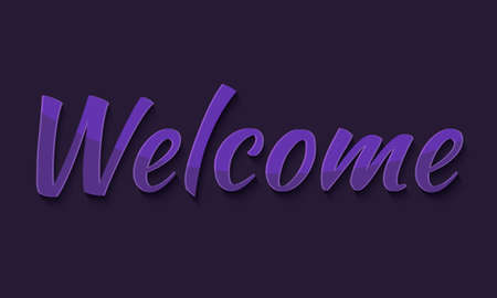 Welcome typography, graphics. Lettering. Illustration