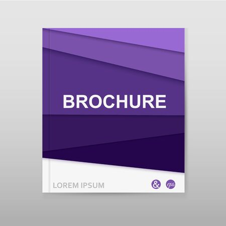 Business flyer template or corporate banner design. Illustration