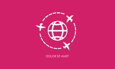 private jet: Airplans global symbol vector