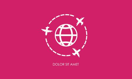 Airplans wereldwijde symbool vector Stock Illustratie