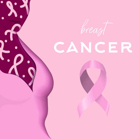 vector illustration dedicated to female breast cancer Ilustrace