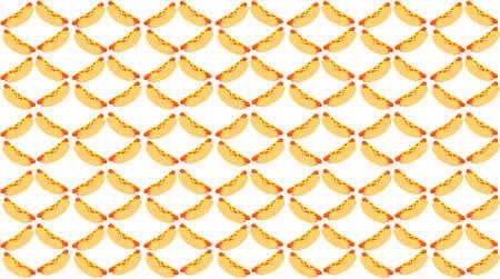Hot dog pattern.