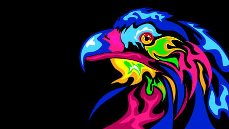 The abstract stylization of the eagle Ilustração