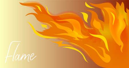 Vector illustration of flames on a gradient background. Illusztráció