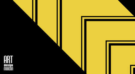 Yellow and black corporate art background. Vector design