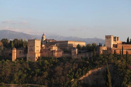 the  alhambra: Alhambra Palace in April, 2014 in Granada, Spain.