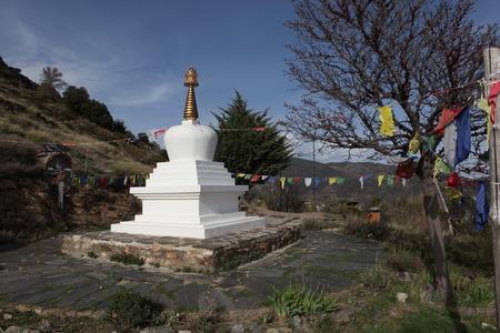 alpujarra: The Buddhist stupa in the mountains of the Alpujarra in April, 2014 in Alpujarra, Andalucia, Spain.