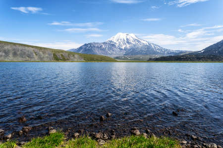 Volcanic landscape of Kamchatka Peninsula. Kamchatka Regional popular travel destinations. Eurasia, Russian Far East, Kamchatka. Standard-Bild - 130773371