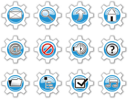 Beautiful icons of technological character. Stock Photo - 3161081