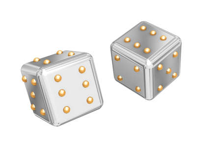 constancy: Picture with the image of two games cubes. Stock Photo