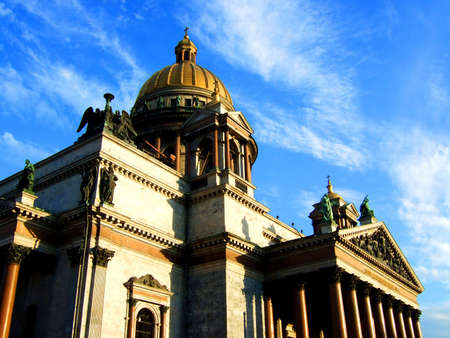 Photo of a beautiful cathedral in St.-Petersburg, Isaack. photo