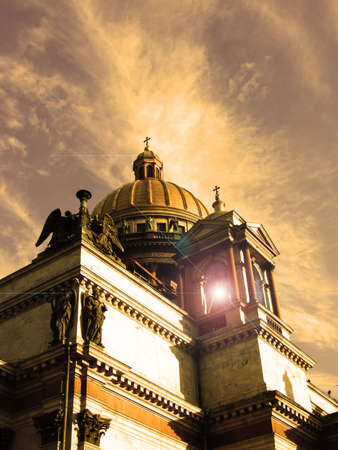 Abstract photo of a cathedral in the city of St.-Petersburg.