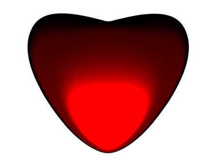 3D the image of beautiful red heart. Stock Photo - 4270748