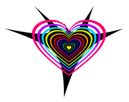 Multi-coloured abstract hearts to the Valentine's day. Stock Photo - 4293507