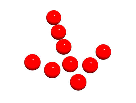 Arrow the index laid out from red spheres. Stock Photo - 4312935