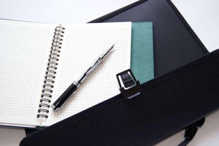 Ballpoint on a notebook. photo