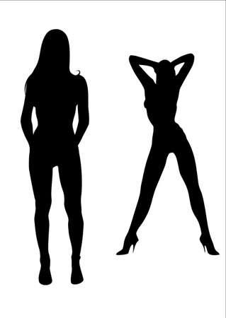 Beauty womans dancing striptease.
