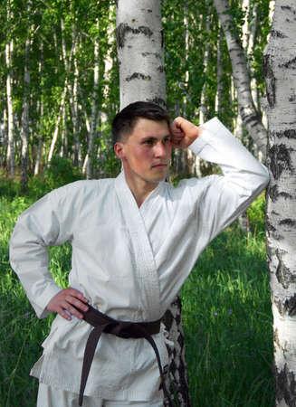 The karateka. photo