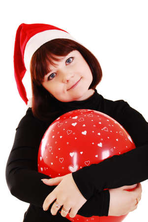 Beautiful christmas woman in santa hat. Stock Photo - 6101601