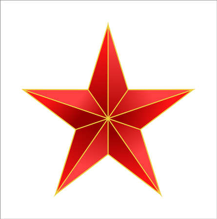 vector star icon on white background Stock Photo