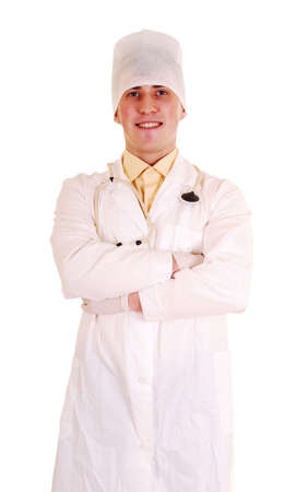 Happy doctor with stethoscope. Stock Photo - 7931138