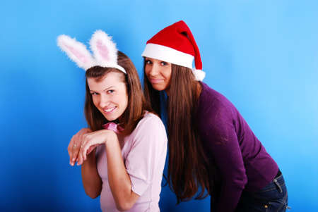 Two Christmas girls. photo