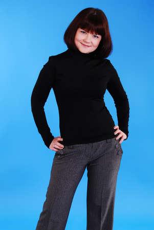 A beautiful fiery black haired woman. photo