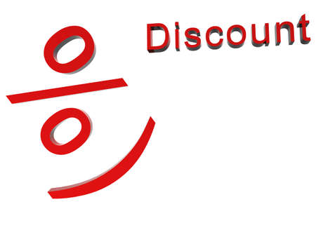 Red three dimensional Sale  Stock Photo - 8239714