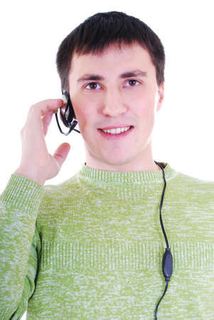 A friendly telephone operator.  photo