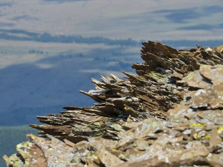 sharp rocks on the top of the mountain