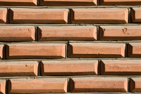 redbrick: brick wall Stock Photo