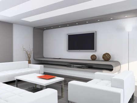 Modern interior. Qualitative design. A drawing room. 3D figure. Stock Photo - 483838