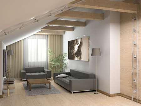 3D render. Modern interior. Stock Photo - 582601