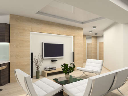 Modern interior.  Living-room. Exclusive design.