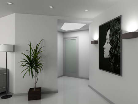 vestibule: Modern design iinterior of vestibule. 3D render