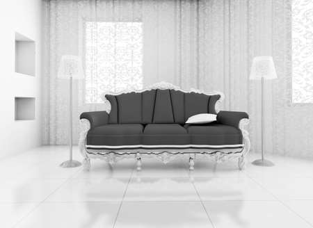 big house: 3D render. classic chair room in the big house.