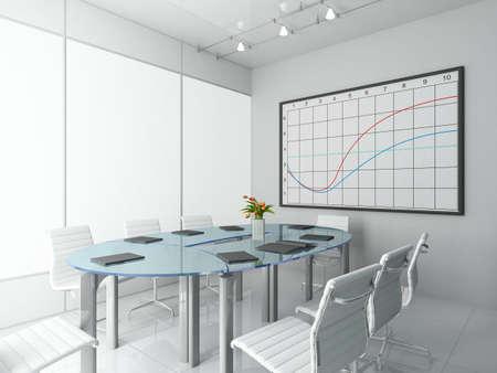Modern interior. 3D render. Office. Exclusive design. Stock Photo